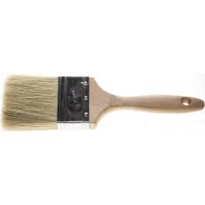 """Кисть плоская STAYER """"UNIVERSAL-LUX"""", светлая натуральная щетина, деревянная ручка, 75мм"""