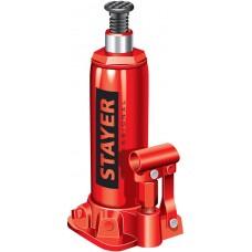 STAYER 8 т, 230-457 мм, домкрат бутылочный гидравлический RED FORCE 43160-8_z01