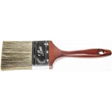 """Кисть плоская STAYER """"LASUR - LUX"""", деревянная ручка, смешанная щетина, 75мм"""