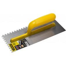 STAYER 120х280 мм, 6х6 мм, гладилка штукатурная зубчатая стальная с пластиковой ручкой