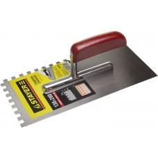 STAYER 130х270 мм, 8х8 мм, гладилка штукатурная зубчатая стальная с деревянной ручкой