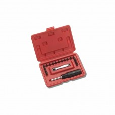 "XL70 Offset Ratchet Screwdriver Set consists of: XL3 Allen Hex Screw Bit 0,050"" (1,27 mm) XL4 Allen Hex Screw Bit 1/16"" (1,54 mm) XL5 Allen Hex Screw Bit 5/64"" (1,98 mm) XL6 Allen Hex Screw Bit 3/32"" (2,38 mm) XL7 Allen Hex Screw Bit 7"