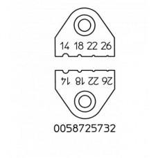Набор ножей для термопинцета Weller AWG 14, 18, 22, 26