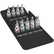 8767 C TORX® HF 1 Набор отверточных головок Zyklop TORX®, с фиксирующей функцией, 9 предметов