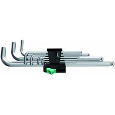 950 PKL/9 SM N Набор Г-образных ключей, метрических, хромированных, 9 предметов