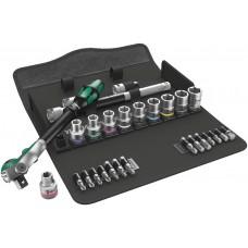 """8100 SC 9 Zyklop Speed - набор с трещоткой, привод 1/2"""", дюймовый , 28 предметов"""