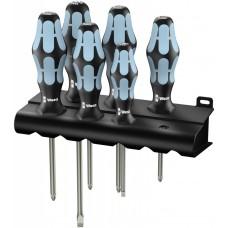 3334/3350/3355/6 Набор отверток, нержавеющая сталь + подставка, 6 предметов