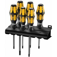 977/6 TORX® Набор отверток Kraftform Wera: отвертка-резец + подставка, 6 предметов
