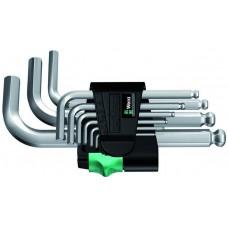 950 PKS/9 SM N Набор Г-образных ключей, метрических, хромированных, 9 предметов
