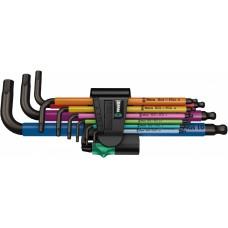 950 SPKL/9 SM N Multicolour Набор Г-образных ключей, метрических, BlackLaser, 9 предметов