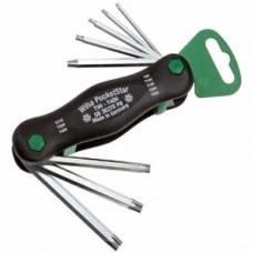 Набор ключей PocketStar, шестигранных,TORX TamperResistant, 8 предметов, Wiha 25166