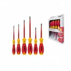 Набор отверток SoftFinish electric SlimFix SL/PH (6 предметов), VDE и GS, серия 3201K6 Wiha 35389