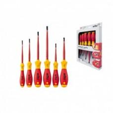 Набор отверток SoftFinish electric SlimFix SL/PZ (6 предметов), VDE и GS, серия 3201ZK6 Wiha 36455