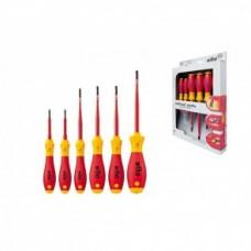 Набор отверток SoftFinish electric SlimFix TORX (6 предметов), VDE и GS, серия 3251K6 Wiha 36558