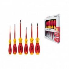 Набор отверток SoftFinish electric SlimFix SL/PH/Xeno (6 предметов), VDE, 3201K601 Wiha 38362