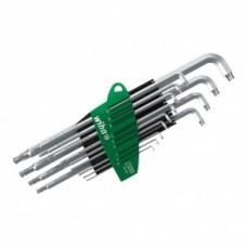 Набор штифтовых ключей TORX® со сферической головкой титаново-серебристых 13 шт. в блистере Wiha 40980