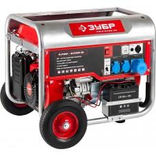 ЗУБР 5.7/6.2 кВт, однофазный, синхронный, щеточный, генератор бензиновый ЗЭСБ-6200-ЭН