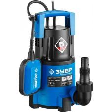 ЗУБР Профессионал НПЧ-Т3-400 дренажный насос с минимальным уровнем откачки, 400 Вт
