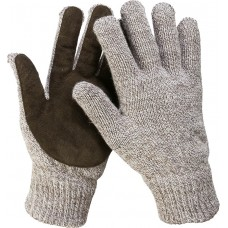 ЗУБР ПОЛЮС, размер S-M, перчатки утепленные, с флисовой подкладкой и спилковым наладонником.
