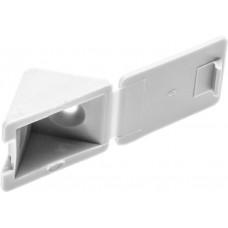 Уголок мебельный с шурупом, цвет белый, 4,0x15мм, 4шт, ЗУБР