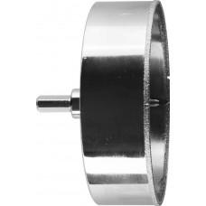 Коронка алмазная по кафелю и стеклу, d=115 мм, зерно Р 60, в сборе с центрирующим сверлом и имбусовым ключом, ЗУБР Профессионал 29850-115