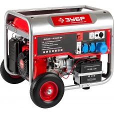 ЗУБР 5/5.5 кВт, однофазный, синхронный, щеточный, генератор бензиновый ЗЭСБ-5500-ЭН