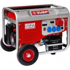 ЗУБР 5/5.5 кВт, трехфазный, синхронный, щеточный, генератор бензиновый ЗЭСБ-5500-ЭФН