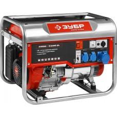 ЗУБР 5/5.5 кВт, однофазный, синхронный, щеточный, генератор бензиновый ЗЭСБ-5500