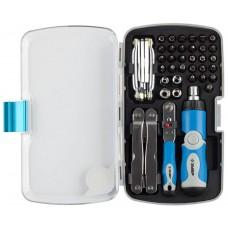 ЗУБР ПРОФИ универсальный набор инструмента 53 предм.: мультитул, имбусовые ключи, трещотка, реверсивно-рычажная отвертка