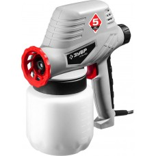Краскопульт (краскораспылитель) электрический, ЗУБР КПЭ-100, 0.8 л, краскоперенос 0-300мл/мин, вязкость краски 60 DIN/сек, сопло 0.8мм, 100Вт