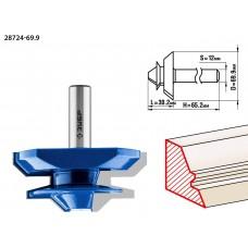 Фреза кромочная для углового сращивания, D= 69,9мм, рабочая длина-30,2мм,хв.-12мм, ЗУБР Профессионал