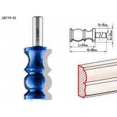 Фреза кромочная фигурная №8, D= 32мм, рабочая длина-57,2мм, хв.-12 мм, ЗУБР Профессионал
