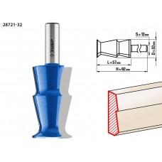 Фреза кромочная фигурная №10, D= 32мм, рабочая длина-57мм, хв.-12 мм, ЗУБР Профессионал