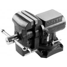 ЗУБР ЭКСПЕРТ-3D, 125 мм, многофункциональные слесарные тиски с поворотом в двух плоскостях на 360°