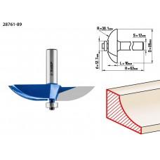 Фреза фигирейная №2, D= 89мм, рабочая длина-16мм, радиус-38,1мм, хв.-12мм, d-12,7мм, ЗУБР Профессионал