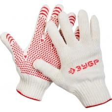 ЗУБР МАСТЕР, размер L-XL, перчатки трикотажные для тяжелых работ, с ПВХ покрытием (точка), 10 пар в упаковке, 11392-K10