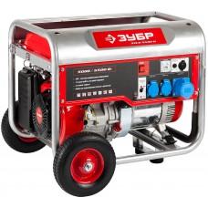 ЗУБР 5/5.5 кВт, однофазный, синхронный, щеточный, генератор бензиновый ЗЭСБ-5500-Н