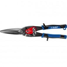 ЗУБР КАТРАН ножницы по металлу, 300 мм, прямые удлинённые, Cr-Mo