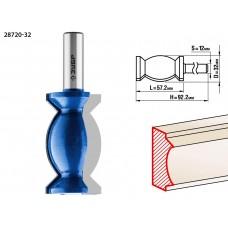 Фреза кромочная фигурная №9, D= 32мм, рабочая длина-57,2мм, хв.-12 мм, ЗУБР Профессионал