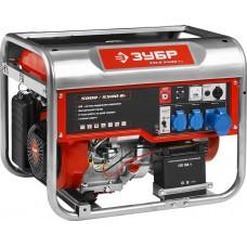 ЗУБР 5/5.5 кВт, однофазный, синхронный, щеточный, генератор бензиновый ЗЭСБ-5500-ЭА