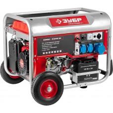 ЗУБР 5/5.5 кВт, однофазный, синхронный, щеточный, генератор бензиновый ЗЭСБ-5500-ЭНА