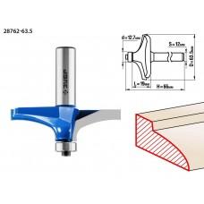 Фреза фигирейная №3, D= 63,5мм, рабочая длина-19мм, радиус -мм, хв.-12мм, d-12,7мм, ЗУБР Профессионал