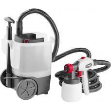 Краскопульт (краскораспылитель) электрич, ЗУБР КПЭ-750, HVLP, 0.8л, краскоперенос 0-800мл/мин,вязкость краски 100 DIN/сек, сопло 2.6мм, 750Вт
