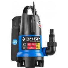 ЗУБР Профессионал НПГ-Т7-550 АкваСенсор, дренажный насос с регулируемым датчиком уровня воды, 550 Вт
