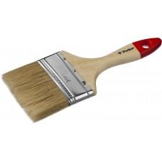 """Кисть плоская ЗУБР """"УНИВЕРСАЛ-МАСТЕР"""", натуральная щетина, деревянная ручка, 100мм"""