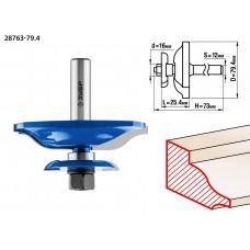 Фреза фигирейная двухсторонняя, D= 79,4мм, рабочая длина-25,4мм, хв.-12мм, d-16мм, ЗУБР Профессионал